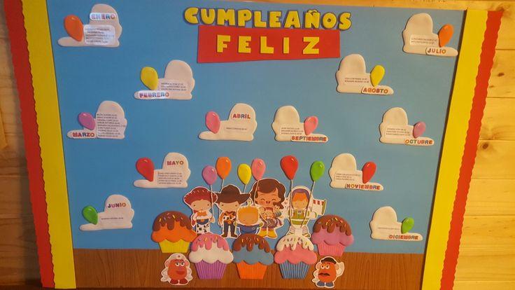 Tablero de cumpleaños inspirado en toy story