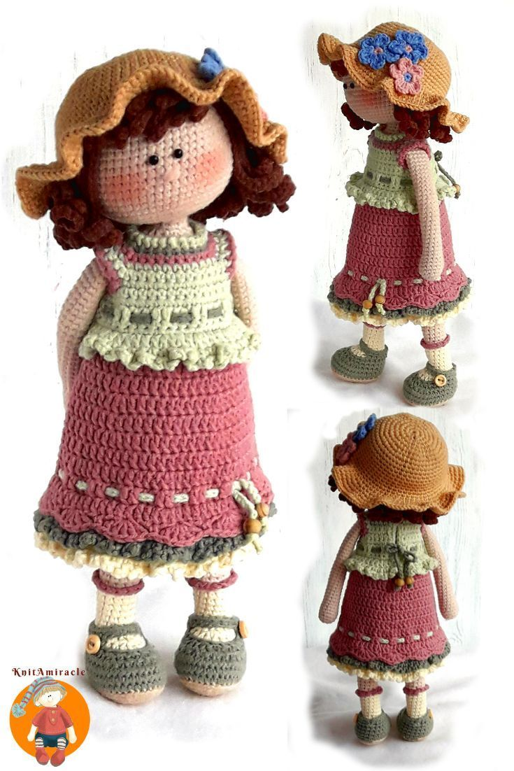 Amigurumi Popcorn Doll Free Crochet Patterns - Crochet.msa.plus | 1102x735