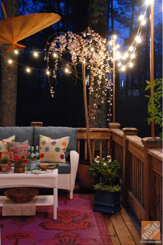 Deck lighting idea