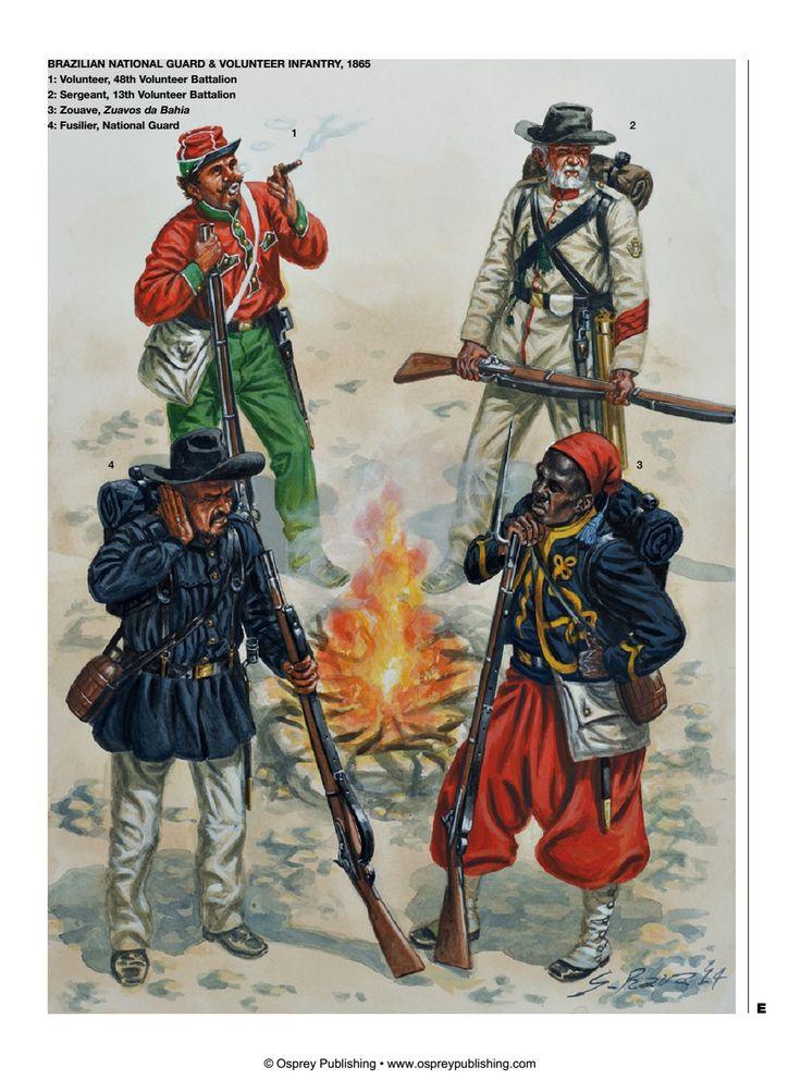 Brazil; Volunteer Infantry & National Guard, 1865