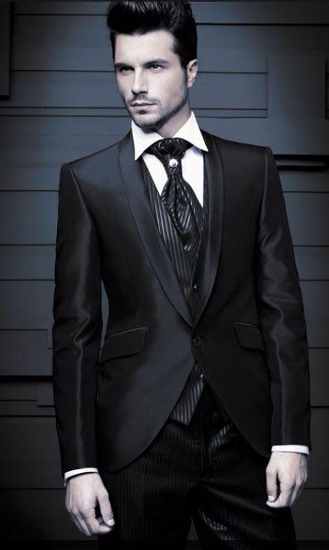 Gothic groom suit idea.