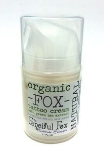 The Fanciful Fox Organic Tattoo Cream & Aftercare for all of our tattooed friends :) #vegan #organic #crueltyfree #tattoo