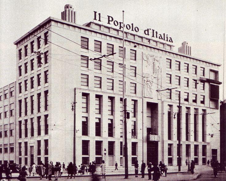 Milano, palazzo del Popolo d'Italia, 1938-1942, Giovanni Muzio