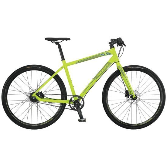 Scott Sub 10 - Super commuter bike.  Gates belt drive, Shimano Alfine internal 8spd rear hub, hydraulic disc brakes.