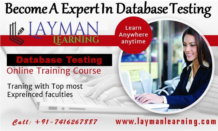 Database Testing | SQL Videos,QA Testing Online Training ... layman learning