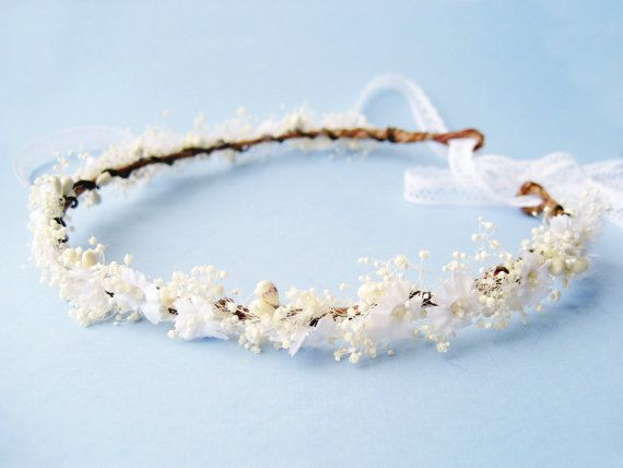 Rustic Flower Crown Bridal Crown Floral Headpiece by NoonOnTheMoon, $75.00