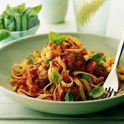 Tagliatelle with meatballs @ allrecipes.co.uk
