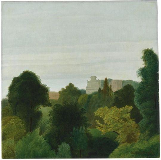 Antonio Donghi (Italian, 1897-1963), Il Gianicolo, 1939.Oil on canvas, 45.5 x 45.5 cm.