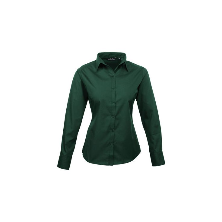 Chemise Vert pour Femme Coton, polyester taille 44 manches longues – RS PRO
