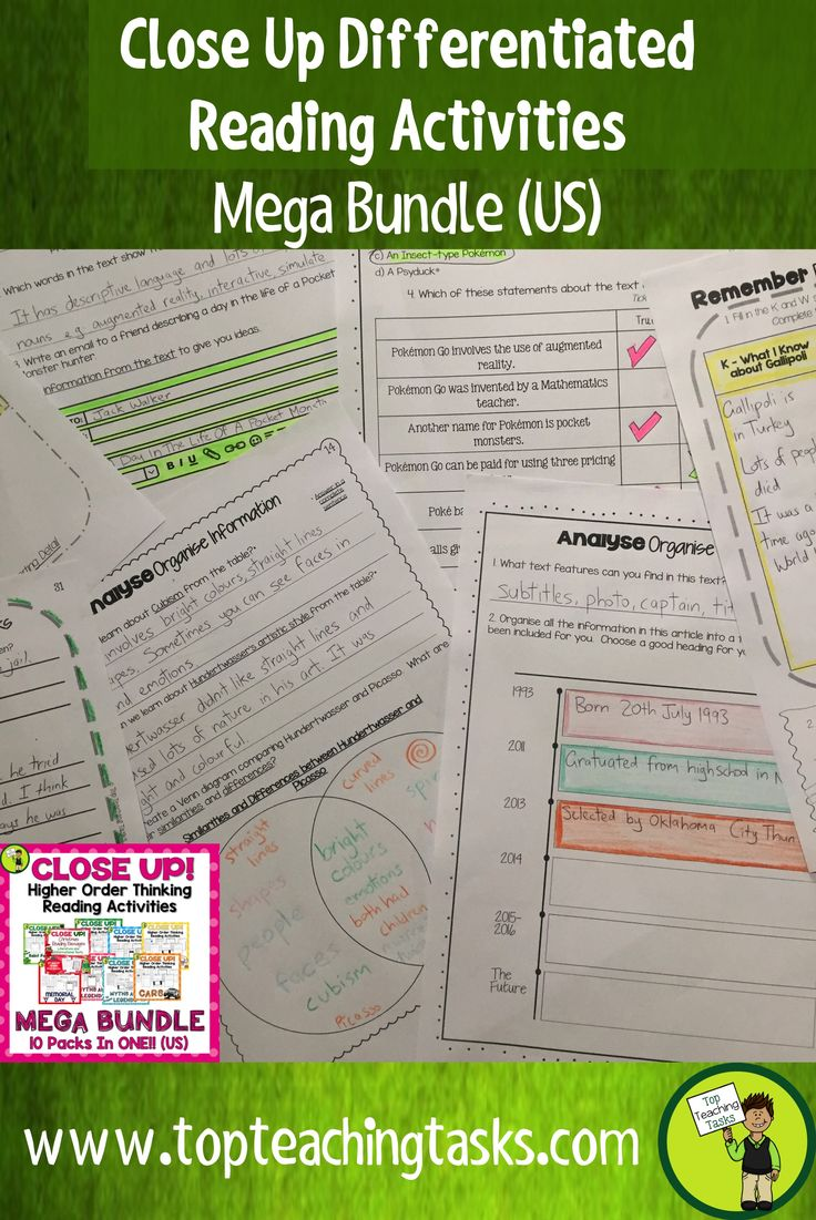 Reading Comprehension Passages with Questions MEGA BUNDLE. This resource has everything a teacher needs for a FULL YEAR reading comprehension curriculum. Topics include myths, sport, Christmas, Veterans Day, St Patricks Day, and much more. Differentiated Reading Passages along with Close Reading activities make this full year bundle interesting and engaging for students. #Reading #myths #sport #videogames #ReadingIdeas #TeachingIdeas #GradeFour #GradeFive #HigherOrderThinking