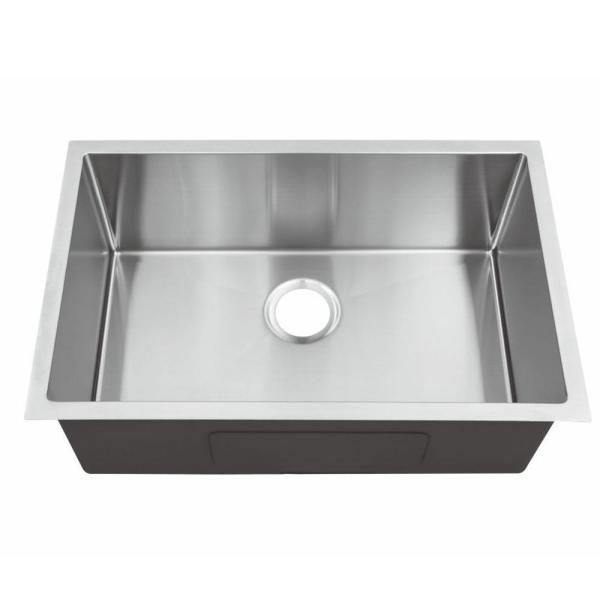 Stainless Steel 28 In Single Bowl Undermount Kitchen Sink Hum2818c The Home Depot Undermount Kitchen Sinks Single Bowl Kitchen Sink Sink