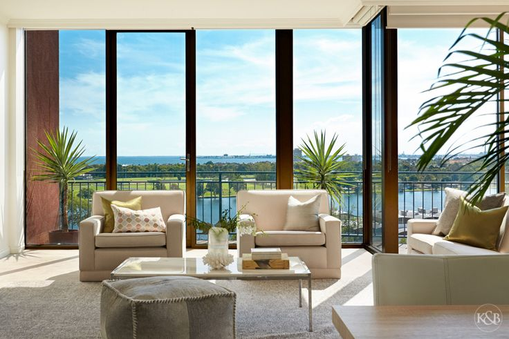 Stunning water views from the serenity of this seventh floor penthouse.