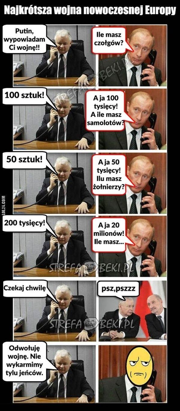 Najkrótsza wojna nowoczesnej Europy #krótka #wojna #Kaczyński #Putin