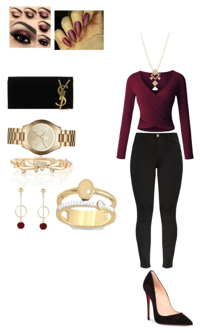 """""""Untitled #5"""" by gaulosaturne on Polyvore featuring Yves Saint Laurent, Christian Louboutin, LE3NO and Michael Kors"""