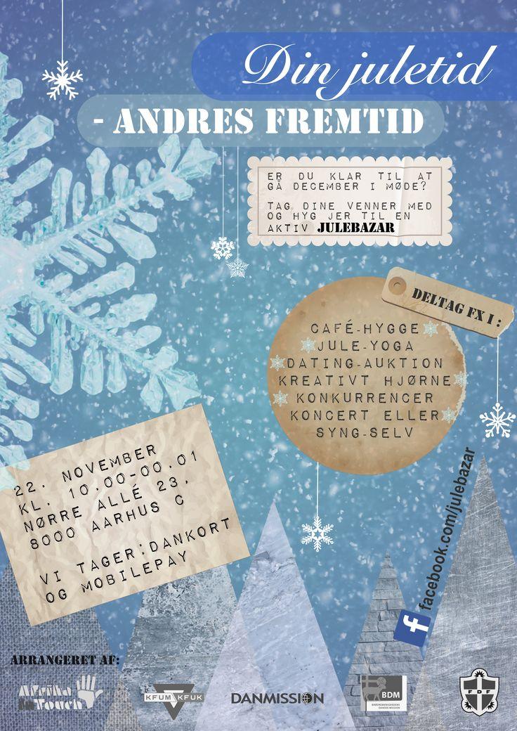 Den 22. november er der en fantastisk og anderledes julebazar i Aarhus centrum!  Kom med!
