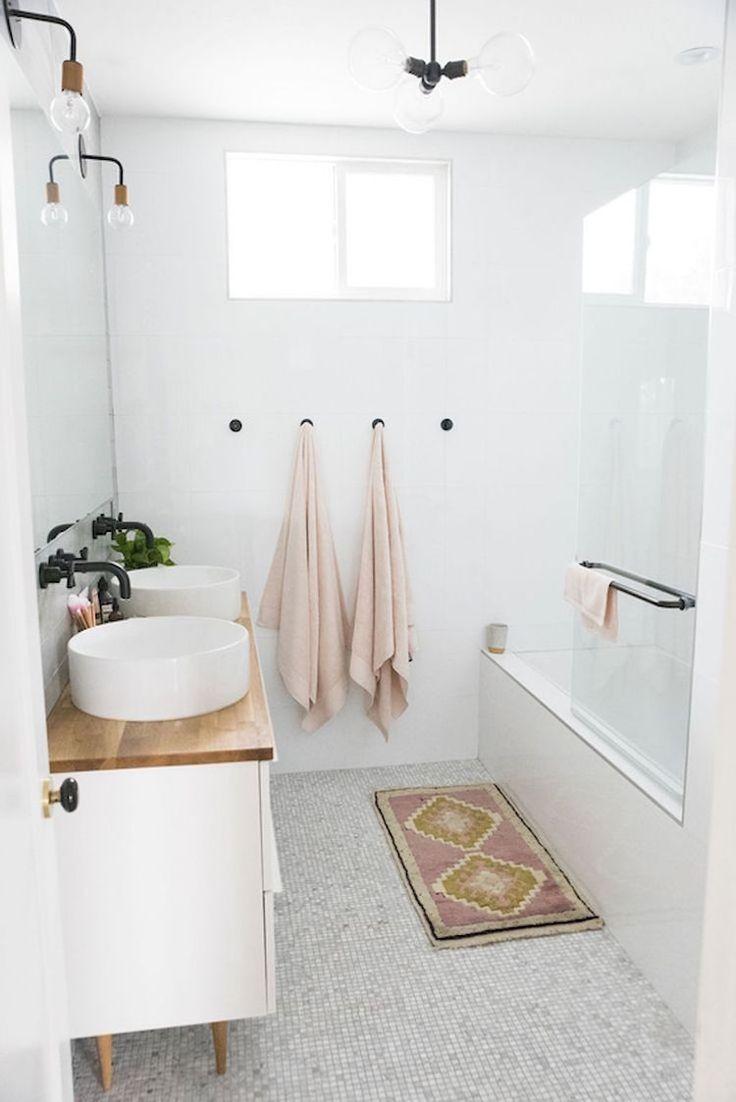 Idée décoration Salle de bain - petite salle de bain moderne blanche ...