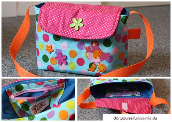 Kindergartentasche / Kita-Tasche zum Selbernähen (Nähanleitung & Schnittmuster)
