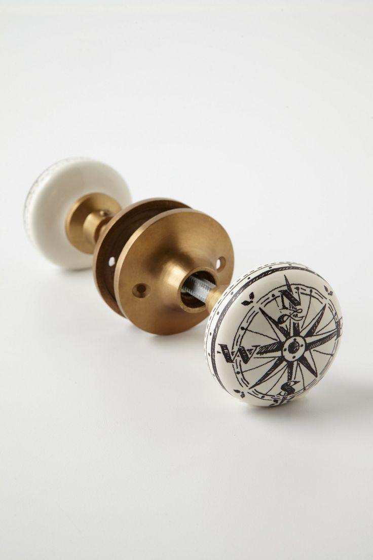 Compass Doorknob - Anthropologie.com, super cute for the nautical bathroom