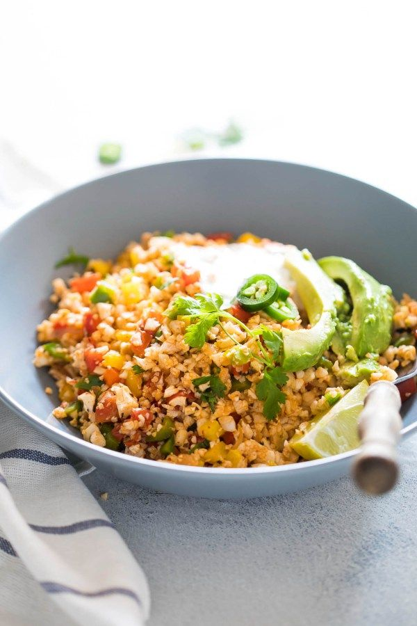 Low Carb Mexican Cauliflower Rice-6
