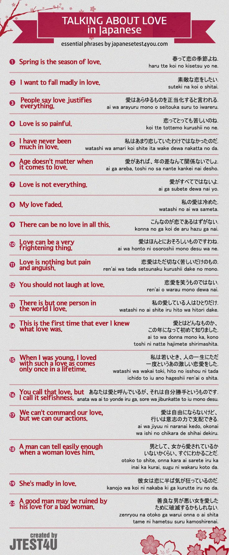 Infographic: How To Talk About Love And Relationships In Japanese Http: