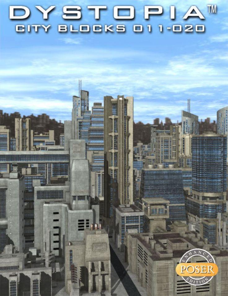 Dystopia City Blocks 011-020 (Poser)