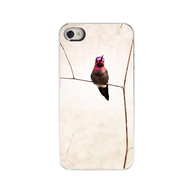 Iphone 4 Case- Hummingbird Photography, Iphone Cover, Iphone 4s Summer Phone Case, Neutral Beige Decorative Iphpne Case. $32.00, via Etsy.