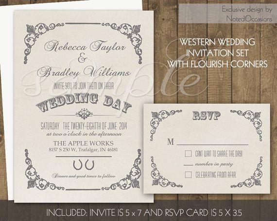 The 25 best Western wedding invitations ideas on Pinterest