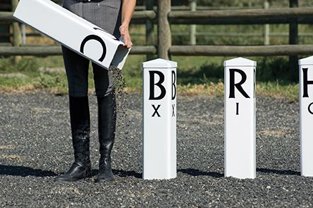 Our Freestanding Letters are attractive and functional.They look terrific with any of our dressage arenas and are perfect for training or dressage shows. 1-800-611-6109