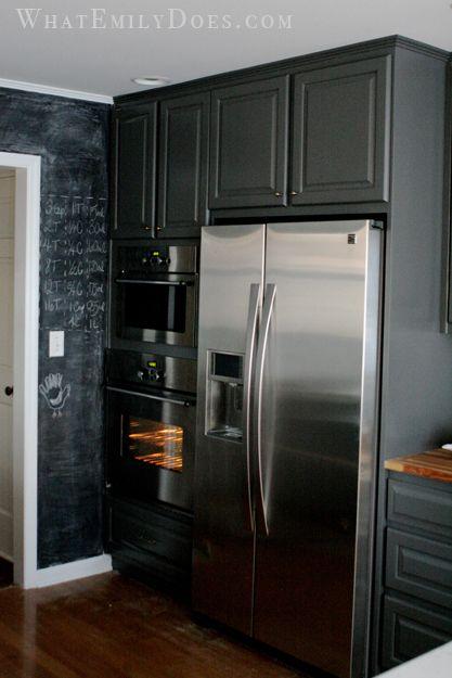 Best Kitchen Cabinets Refrigerator Surround Black Kitchen 400 x 300