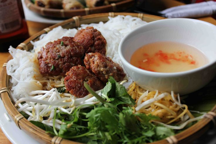 Grilované vepřové maso (Bún chả)