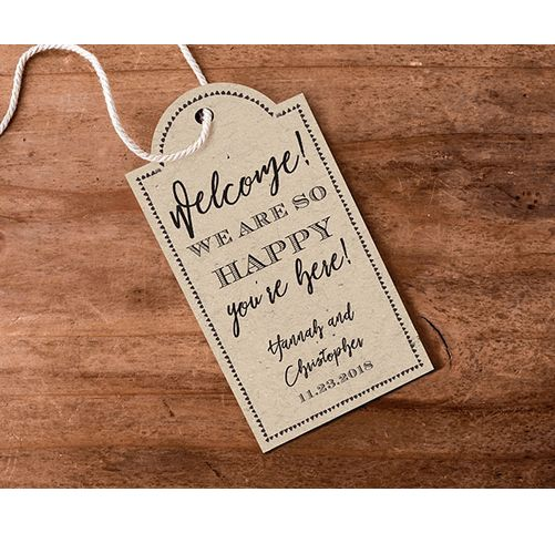 Rustic Personalized Tags (Set of 12)