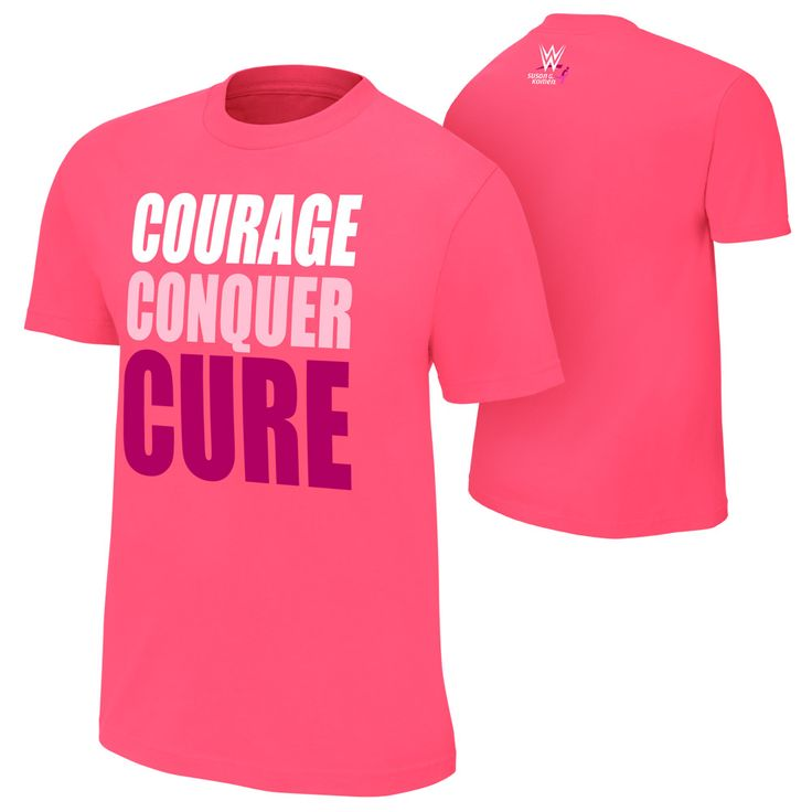 #WWE's Pink #CourageConquerCure T-Shirt