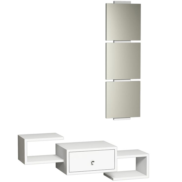 Wall console Dorado Coat with white mirror