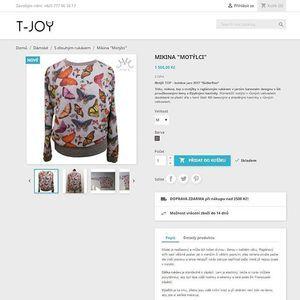 New eshop tjoy.cz ....zahřívací kolo...a náš hit mikča s motýlky a kamínky #eshop #tjoy #tshirt #myjoy #workwithlove❤️