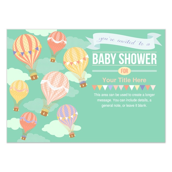 Marvelous Pingg Design: Hot Air Balloon Baby Shower