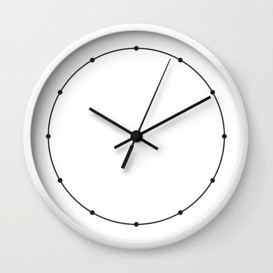 Black & White Dots & Lines Wall Clock
