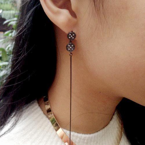 Øreringe med krystaller