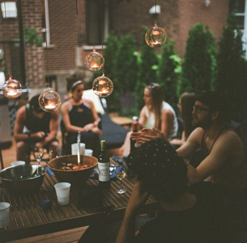 Gatherings by Fred Tougas . Friends . Dinner . Open air .