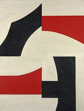 Charles Green Shaw - Quartet Forty, 1969, Oil on canvas, 40 x 30-1/8 inches, Signed and dated on verso: Charles Shaw / 1969