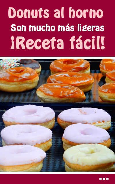 Donuts al horno. Son mucho más ligeras. ¡Receta fácil!