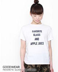 """GOODWEAR [グッドウェア] """"FAVORITE GLASS"""" ロゴ Tシャツ"""