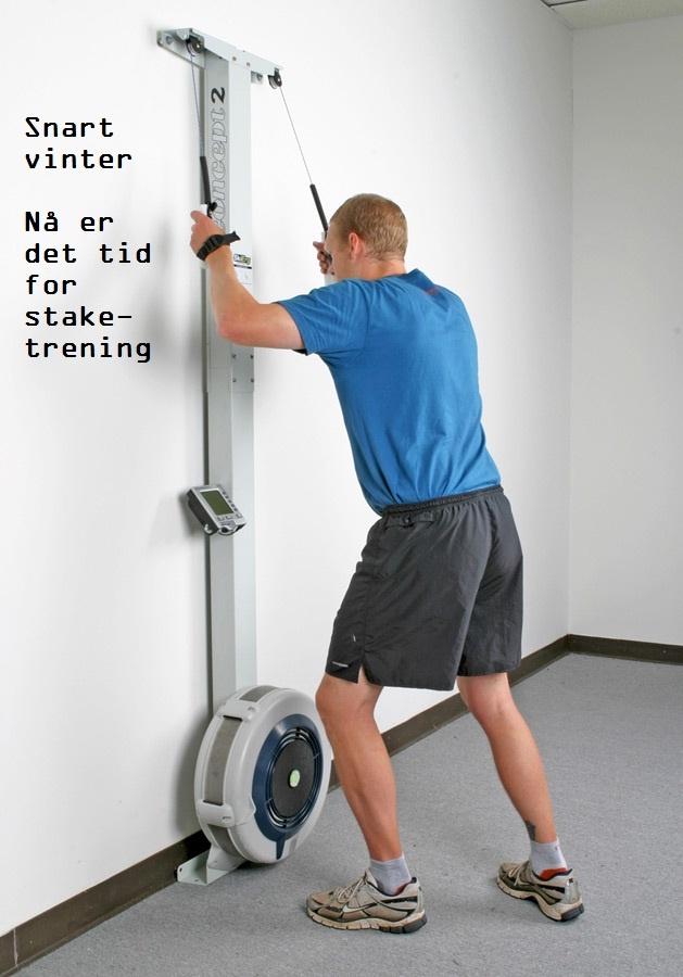 Bygg ski-spesifikk styrke i overkropp, bein og core-muskulatur ved hjelp av nye SkiErg! Ergometeret kan monteres på veggen og det medfølger komplett sett med skruer for trevegg.