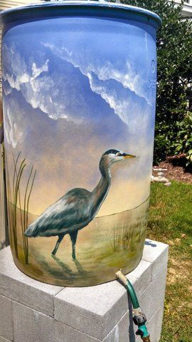 painted rain barrels - Google Search