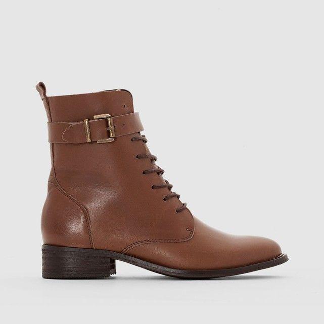 Boots cuir à lacet   Lacet, Doublure et Tiges 970e9de8e871