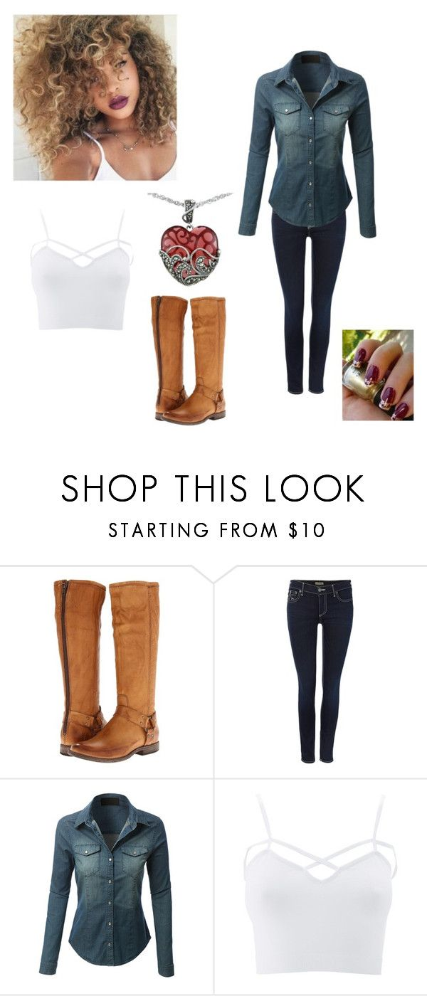"""""""Untitled #496"""" by caitdallon ❤ liked on Polyvore featuring Frye, True Religion, LE3NO, Charlotte Russe, Lord & Taylor and plus size clothing"""