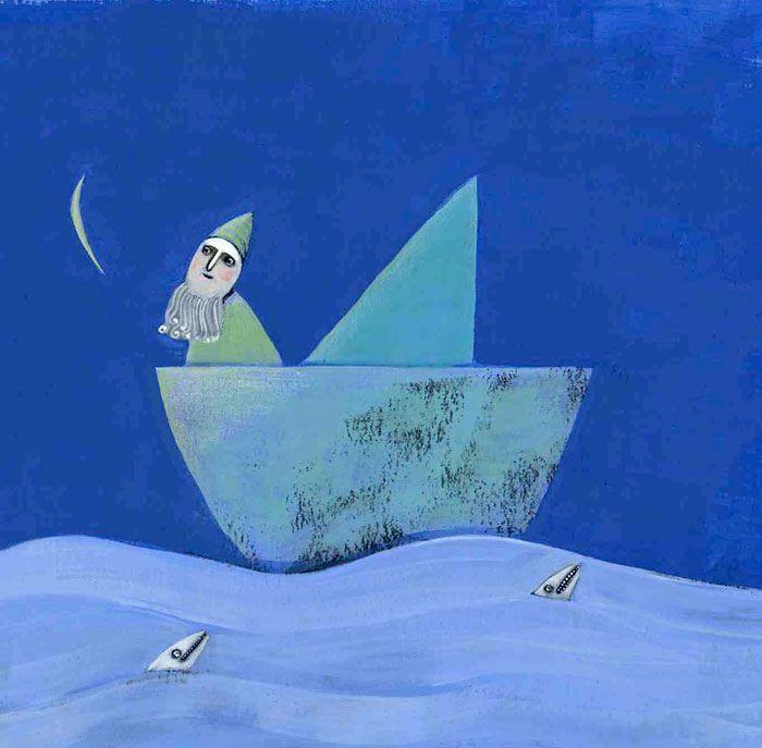 """Arianna Papini illustration for """"Il ritorno di Ulisse"""", 2005"""