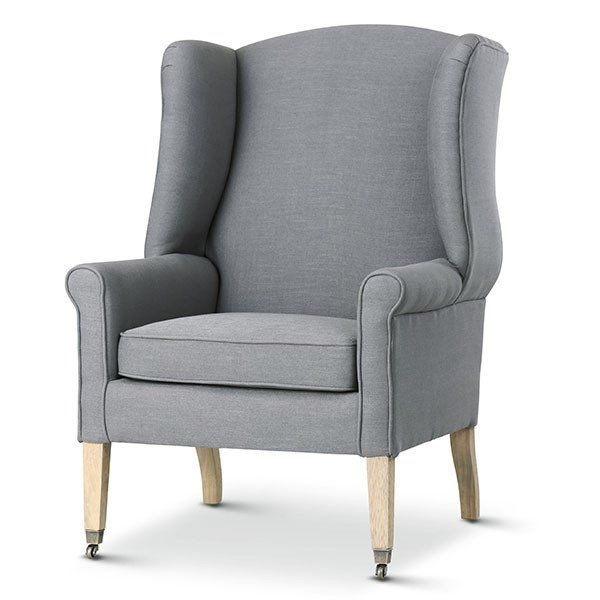 English Reading Chair Wolf Grey