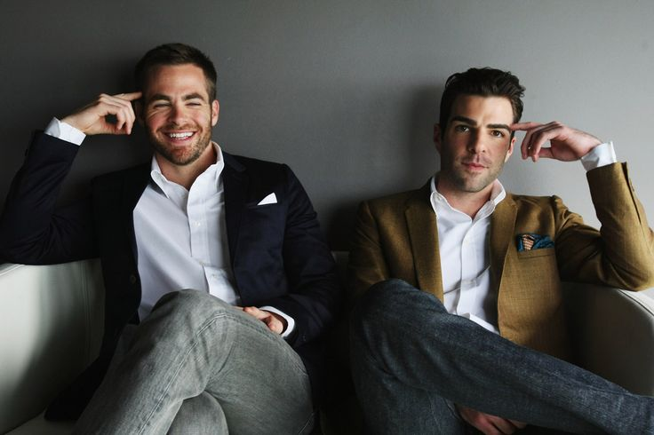 Chris Pine and Zachary Quinto. These Two AND Benedict Cumberbatch! Cannot wait for the next Star Trek Movie.