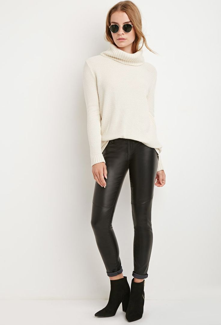 Chunky Knit Turtleneck Sweater | Forever 21 Canada | • F21 ...