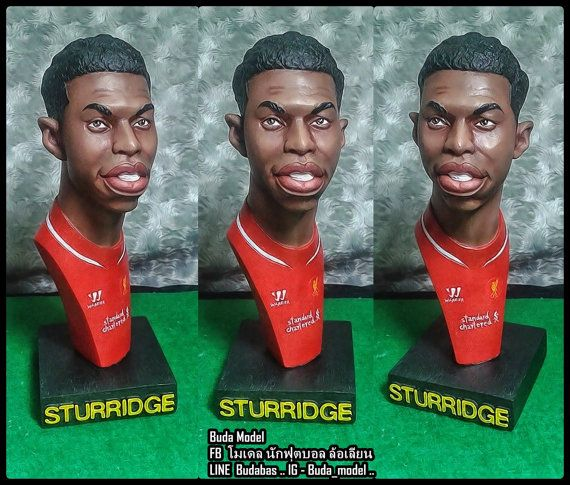 Daniel Sturridge.Resin.Bust Statue Caricature by BUDAMODEL on Etsy